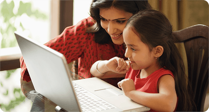 Unlimited learning &  monitoring at home  with LEAD Student  App
