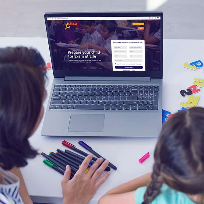 PAN India online brand marketing of LEAD-powered schools